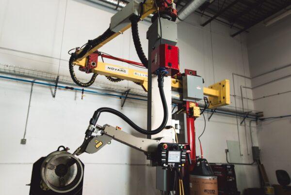 A robotic pipe welding machine