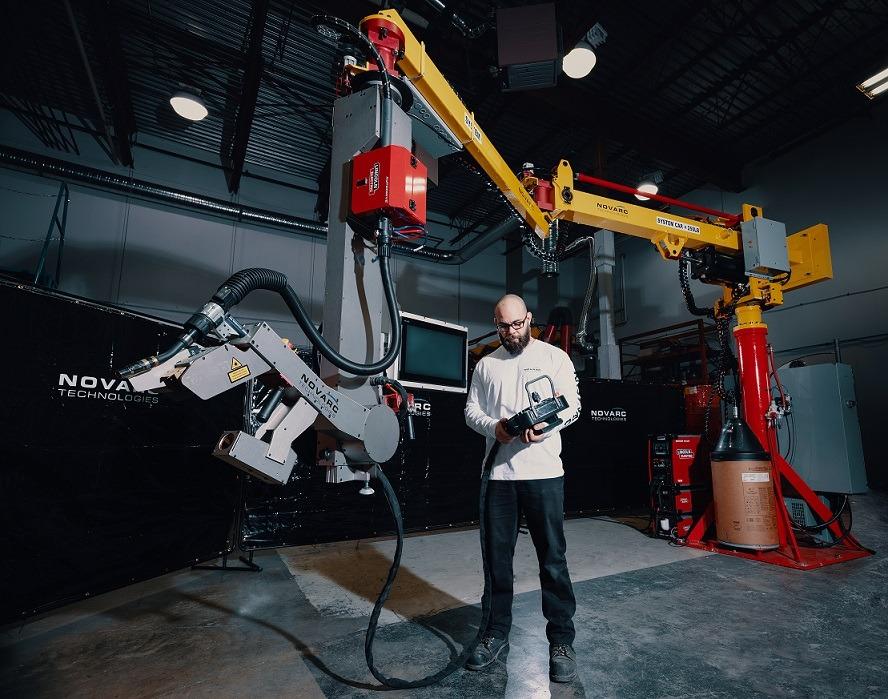 Pipe spool welding robot